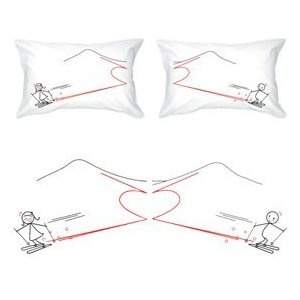"""BoldLoft """"We Are Perfect Match"""" Couple Pillowcases-Romantic Valentine's Day Gifts for Couples,Cute Valentines Gifts for Him or Her,Romantic Anniversary Gifts Price: $36.00"""
