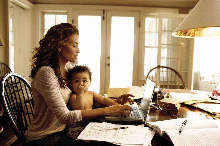 Why Millennial Working Mothers Are Leaning Sideways. Work from home, home business, home office