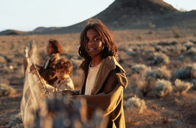 Rabbit proof fence >Australian history dramatized into more girl power! Plus Peter Gabriel doing some haunting, ethereal music on top...wonderful