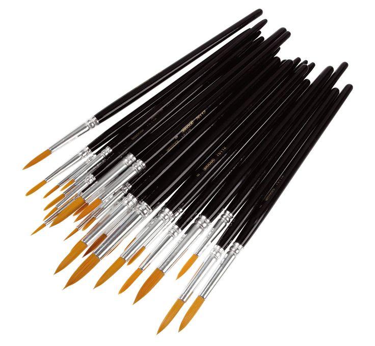 Synteettiset siveltimet 25 kpl sekoitus (pienikokoisia) lekolarilta  Soveltuvat akryyli-, peiteväri- ja akvarellimaalaamiseen.