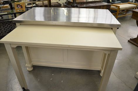 Kitchen island with slide out table google search for 4 x 8 kitchen island ideas