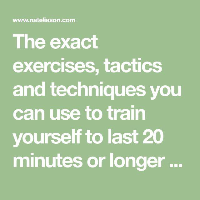 train yourself to last longer