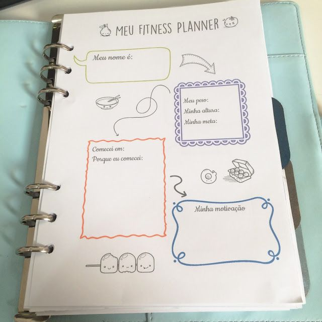 Fitness planner em português para download (7 páginas) - Atraves da linha