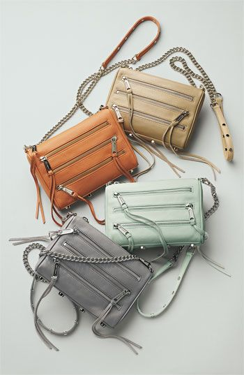 Rebecca Minkoff '5 Zip - Mini' Crossbody Bag | Nordstrom ----- LOVE in sand. need a new crossbody bag real bad...