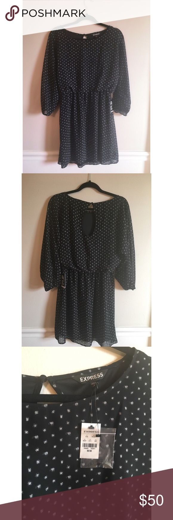 Express Polka Dot Short Dress Size Medium NWT New With Tags! This classic print is having a major moment! All your favorite fashion bloggers are wearing polka dots! This is a must have in your wardrobe! Express Dresses