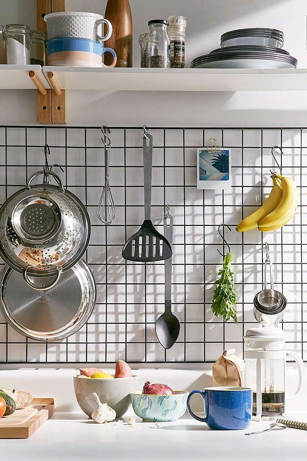 Wire Wall Rack - Loving this wire rack on the kitchen wall ...