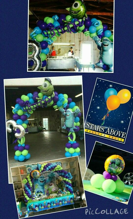 Monsters Inc birthday balloons