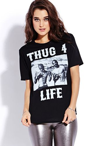 Forever 21 Thug 4 Life Tee, $15.80, available at Forever 21.
