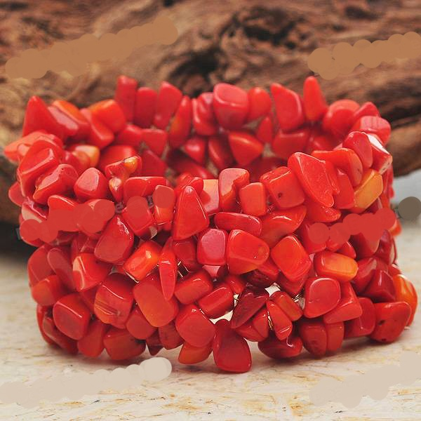 PULSEIRA_EM_PEDRAS_CORAL__5Stretch Bracelets