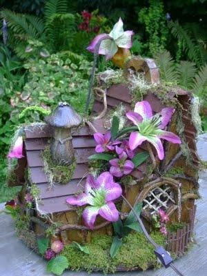 Fairy home by Judy McLaughlin...