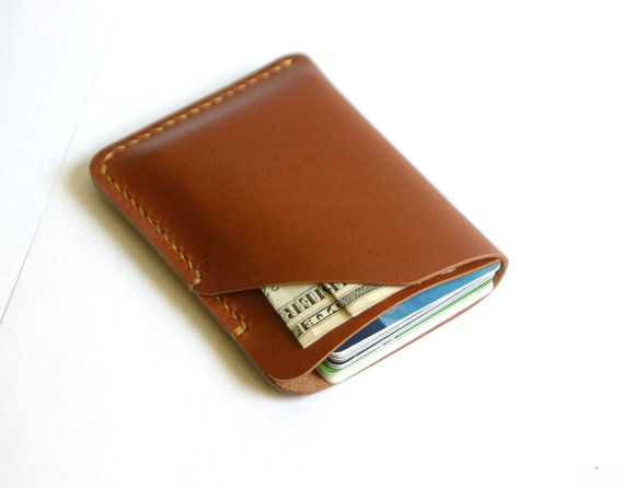 Slim Credit Card Wallet Leather Card Holder by MihaiLeather, $19.00
