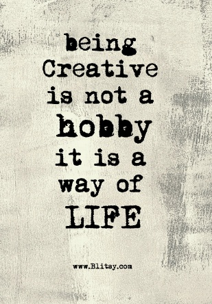 Creativity is a way of Life!! Links to Blitsy's Facebook page for inspiration and craft supply deals.