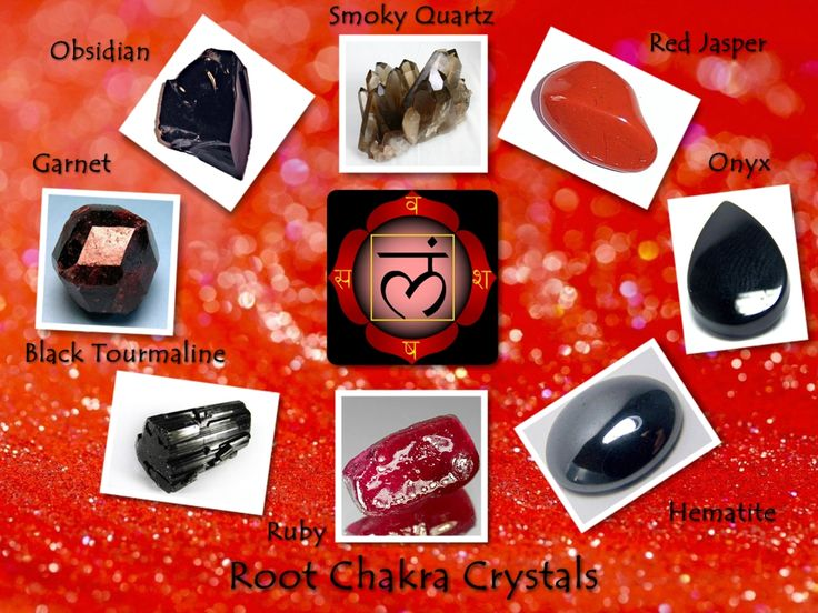 Root Chakra Crystals by ~csillagrubin on deviantART