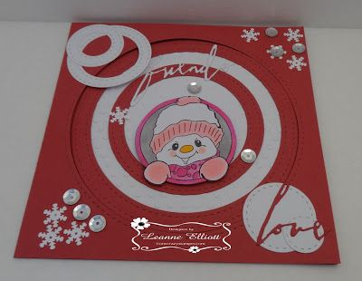 """ONECRAZYSTAMPER.COM: Friends Love by Leanne using High Hopes Stamps """"Snowy Love"""" (RR003UM)"""