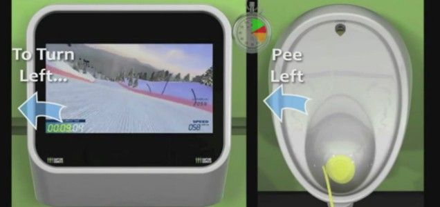 Balham urinal debuts world's first pee-controlled game