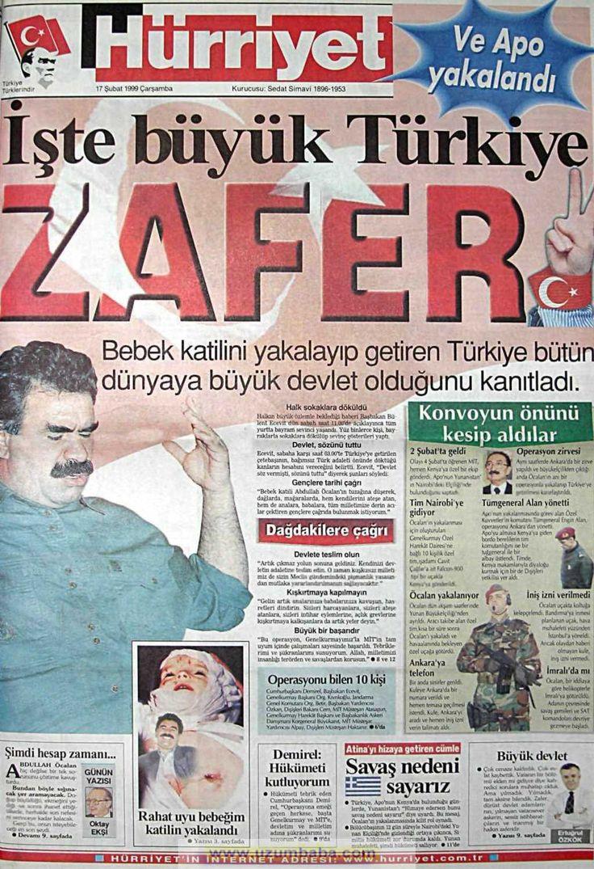 Hürriyet gazetesi 17 şubat 1999