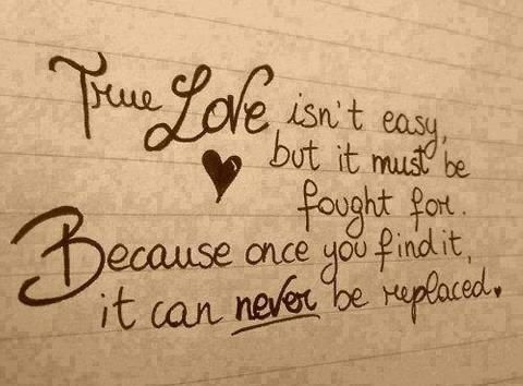 There is no replacing our love