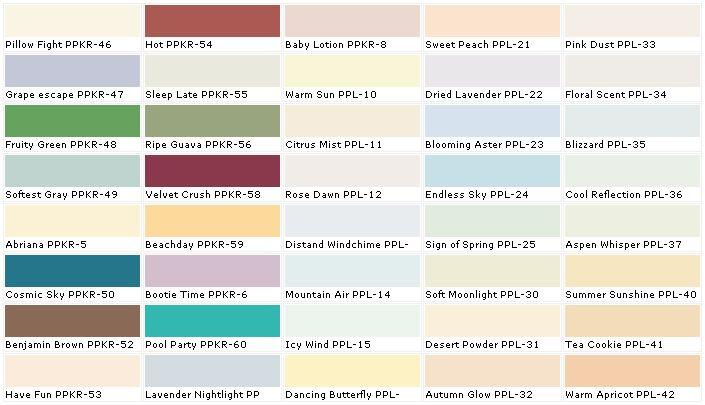 disney paint color names behr paints chip color swatch on sample color schemes for interiors id=55110