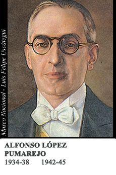Sus dos gobiernos --1934-1938 y 1942-1945-- lo fueron a nombre del partido liberal.Los gobiernos de López Pumarejo representaron un importante avance para el país. En el primero, en 1936, se aprobó una Reforma Constitucional, de corte intervencionista y contenido social, que permitió un gran avance en la legislación y en la práctica política. En ese contexto, se escucharon los reclamos del campesinado y se expidió la ley 200 de 1936, que tenía en cuenta la función social de la propiedad. Se…