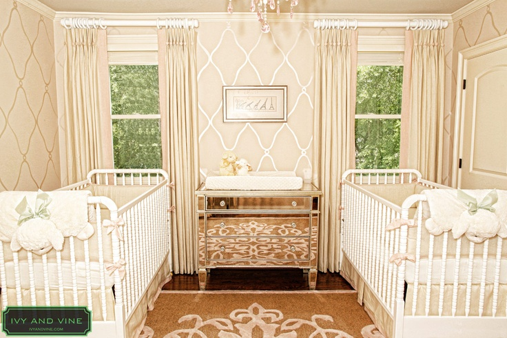 Ivy and Vine Twin GIrls Nursery Project
