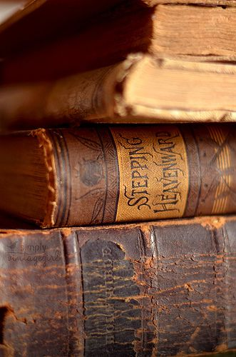 Love the way they smell and feel #oldbooks