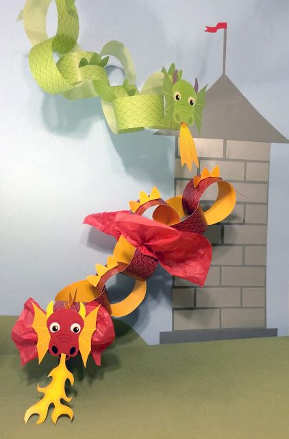 Whirligigs Party Co: Dragon Craft Printable for Kids                                                                                                                                                      More