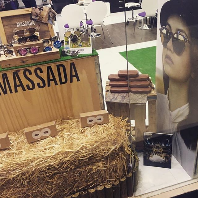 Save the planet! Massada eco window display in Marakech during UN Climate Change Conference COP22. #massada #massadaeyewear #massadaeyewearjewelry
