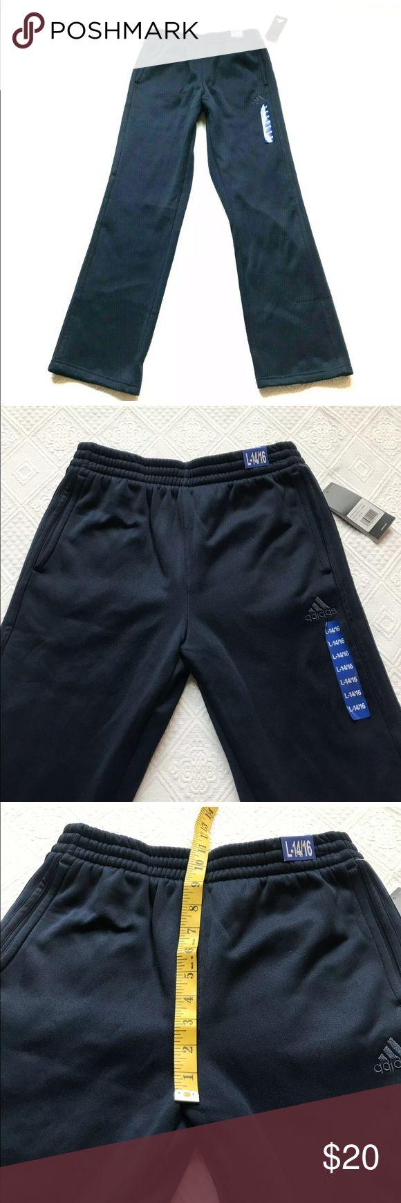 Adidas Boys Tech Fleece Pants Navy Large 14/16 Adidas Boys
