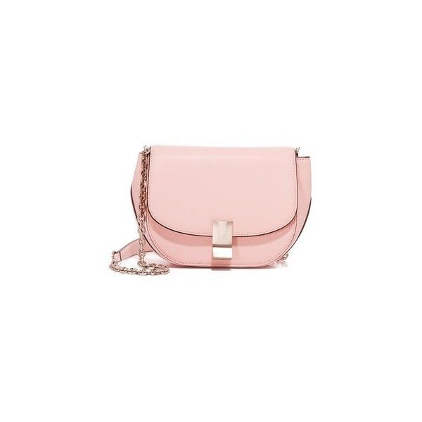 Flynn Morgan Saddle Bag ($325) ❤ liked on Polyvore featuring bags, handbags, shoulder bags, rosa, pink shoulder bag, genuine leather shoulder bag, pink leather handbags, leather shoulder bag and genuine leather purse