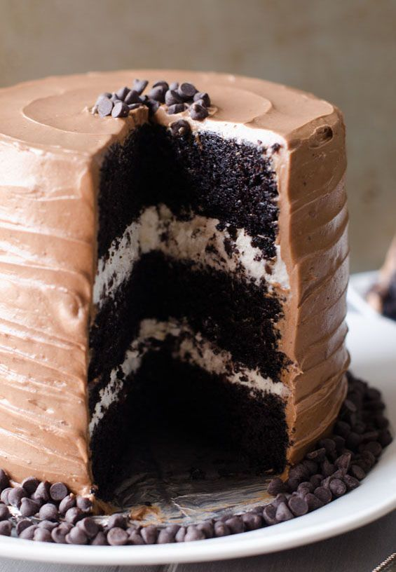 Chocolate Chip Birthday Cake