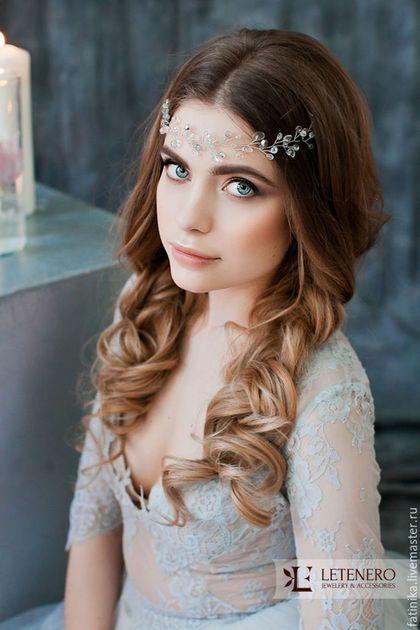Wedding diadem / Венок, венок на голову, венок из цветов, венок свадебный, венок невесты, свадебные аксессуары, свадебные украшения, украшение невесты, украшения, украшения из бисера, украшения из серебра