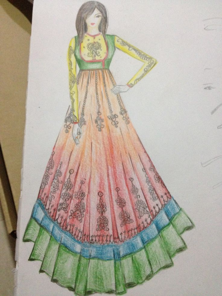 anarkali dress sketches pinterest dresses anarkali