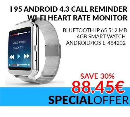 i95 Android 4.3 Call Reminder, Wi-Fi Heart Rate Monitor