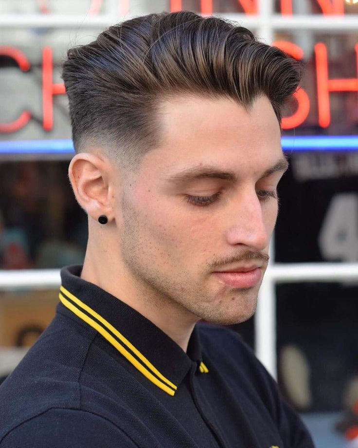 toastiestyles medium mens hairstlye low fade haircut