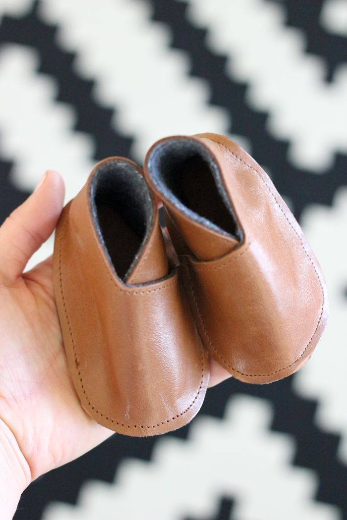 DIY Leather Baby Boy Boots - Free Pattern + Tutorial - Delia Creates (12)