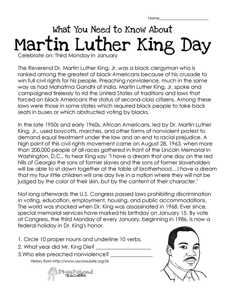 Subject And Object Pronoun Worksheets Word Top  Best Martin Luther King Day Ideas On Pinterest  Mlk  Real World Math Worksheets Word with Ph Sound Worksheets This Free Worksheet About Martin Luther King Day Covers The Basic History  Of The Holiday Main And Helping Verb Worksheets Excel
