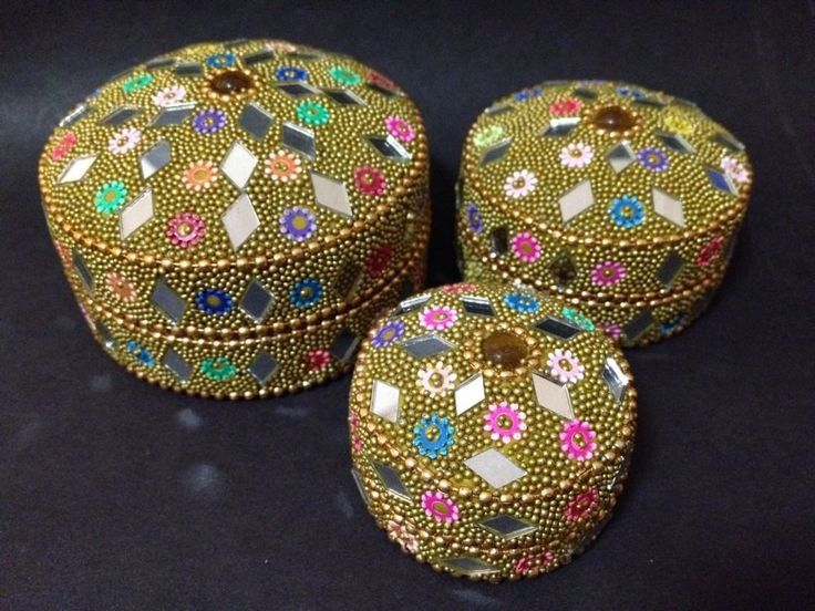 AS NEW - Indi Trinket Boxes - Set of 3