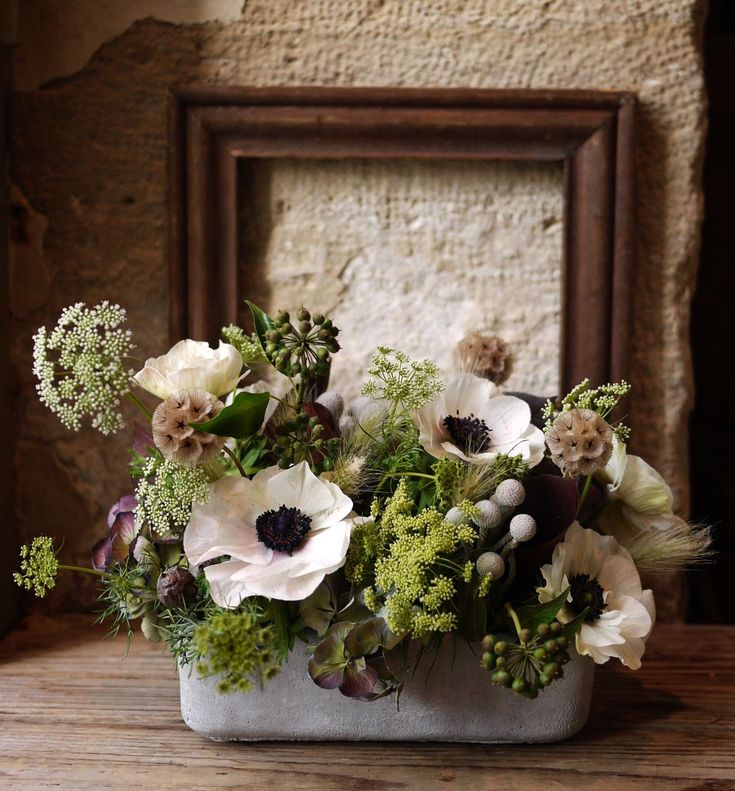 anémone, hortensia, scabieuse, Akiko Usami, fleuriste