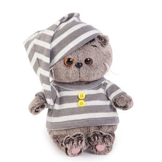 Plüschtier Baby Katze Basik im Pyjama 20 cm Soft Toy Cat Kitty Peluche BudiBasa  | eBay