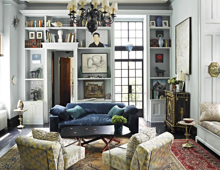 Eclectic Formal Living Room With Tons Of Pattern