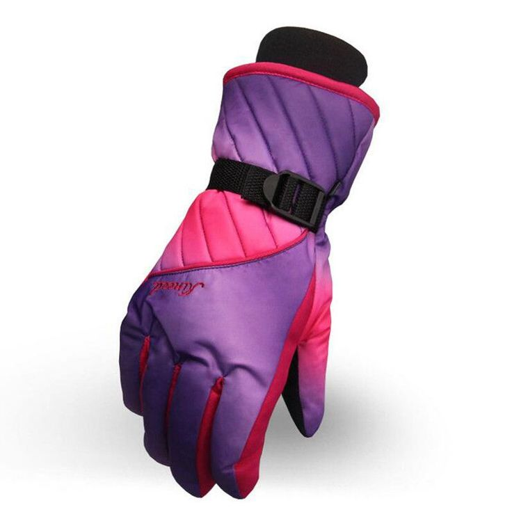 Women Skiing Gloves Colorful Warm Waterproof Anti-Slip Ski Gloves Cycling Hiking Outdoor Sporting Gloves guantes ciclismo