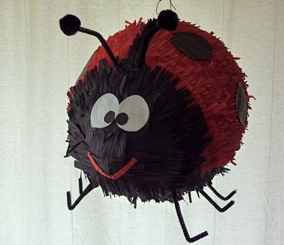 Pinata Adorable Ladybug by DalePinatas on Etsy, $45.00