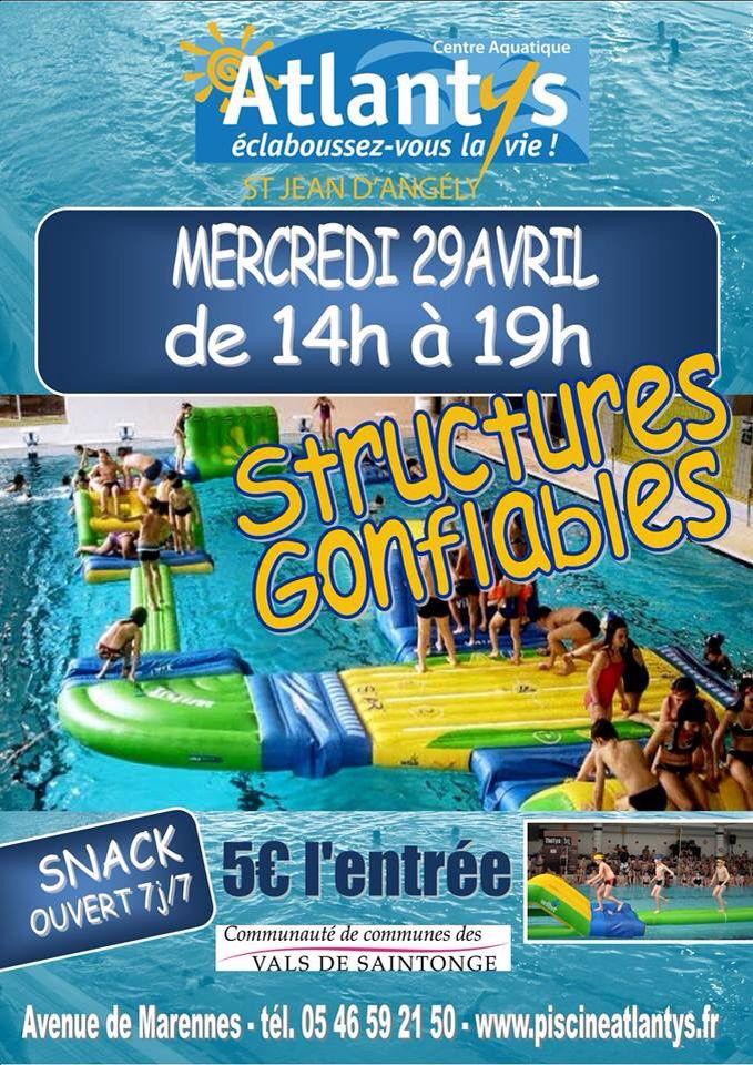 Mercredi 29 avril 2015 au centre aquatique atlantys de st jean d 39 angely structures gonflables de - Piscine atlantys st jean d angely ...
