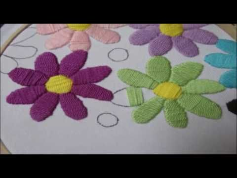 embroidery stitches by hand tutorial | embroidery stitches by hand for dresses - YouTube