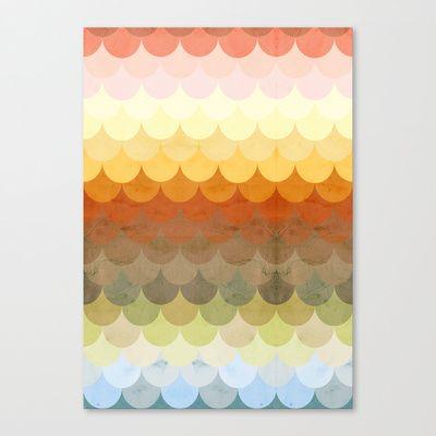 Half Circles Waves Color Canvas Print. Popular ArtLiving Room ... Part 85