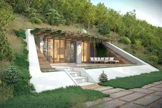 House Built Into A Hill Modern Styled Houses In A Holiday Area Are