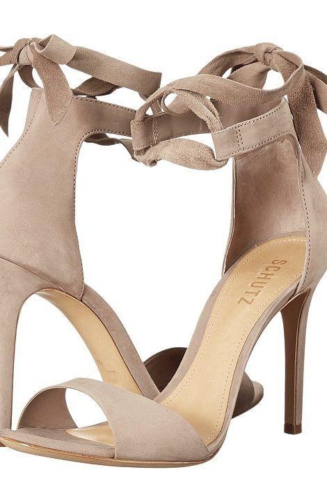 Schutz Rene (Neutral) High Heels - Schutz, Rene, S0138709640014-146, Footwear Open Over 3 inch heel, Over 3 inch heel, Open Footwear, Footwear, Shoes, Gift - Outfit Ideas And Street Style 2017