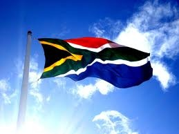 seen in #SouthAfrica: the nation's pride on presentation on flagpole