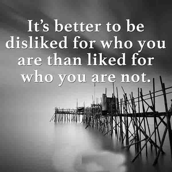 It is better to be disliked #quotes