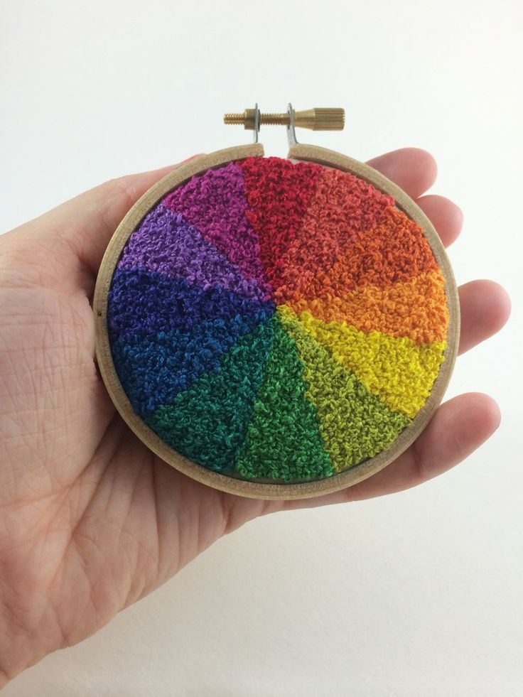 French Knot Color Wheel.  All hand done french knots!